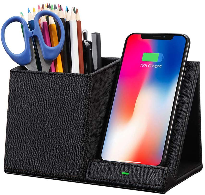 Fast Wireless Charger with Desk Organizer