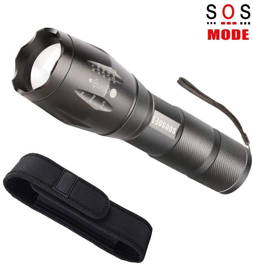 LED Flashlight with Holster