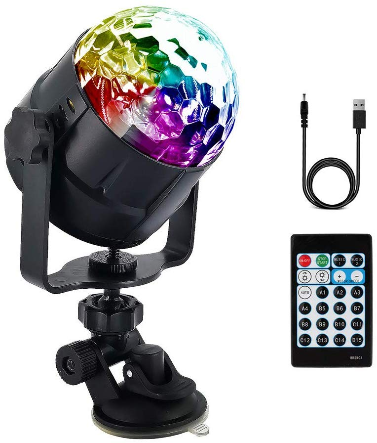 Sound Activated Party Lights with Remote Control