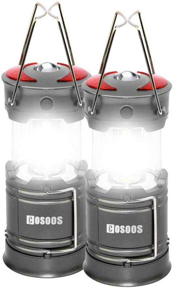 2 Pack Rechargeable LED Camping Lantern