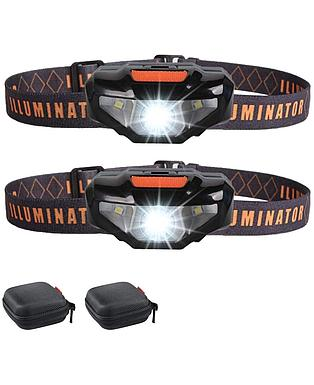 2 LED Headlamps Flashlights with Portable Cases