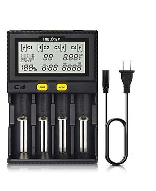 18650 Battery Charger,MiBOXER Smart Universal 4-Bay